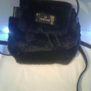 Swarovski small fur backpack